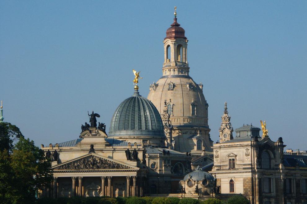 Dresden: Brühlsche Terrasse und Frauenkirche
