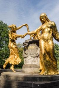 Mozart-Brunnen in Dresden