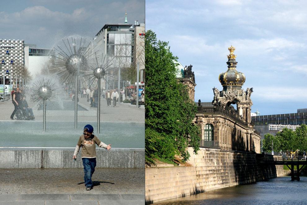 Dresden: Bummel- und Shoppingmeile, Prager Straße und Zwinger mit Kronentor