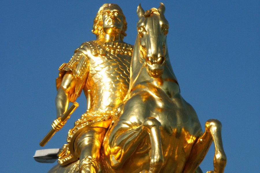 Dresden: Standbild August des Starken