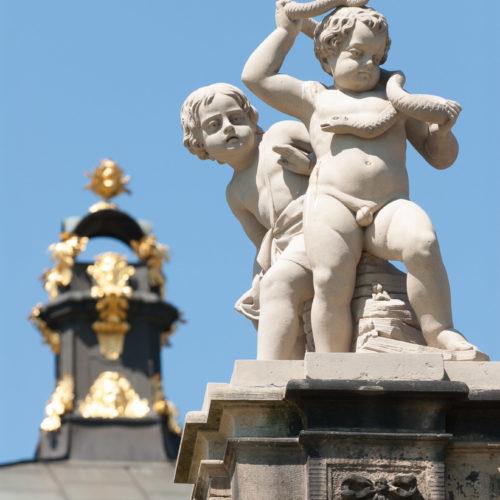 Die sanierten Figuren im Dresdner Zwinger